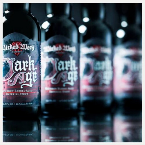 WICKED WEED DARK AGE BOURBON BA IMPERIAL STOUT 12%